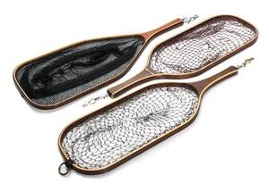 A Group of Three Custom Wood Trout Nets