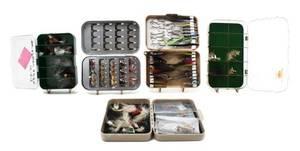 A Group of Five Boxes of SalmonSteelhead Flies