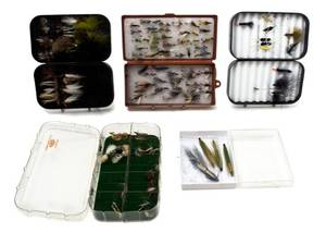 A Group of Five Boxes of SalmonSteelhead Flies with Streamers