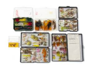A Group of Five Boxes of Miscellaneous Flies