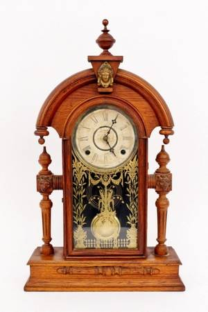 Victorian Oak Cased Clock