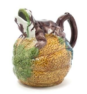 A Majolica Figural Ewer