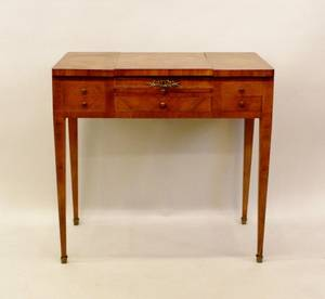 French Satinwood Inlaid Dressing Table