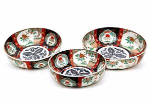 133 Set of Three Imari Nesting Bowls