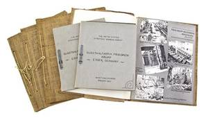 UNITED STATES STRATEGIC BOMBING SURVEY A group of two handbooks 1947 and four photo albums 1945