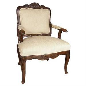 A Swedish Rococo Revival Beechwood Armchair