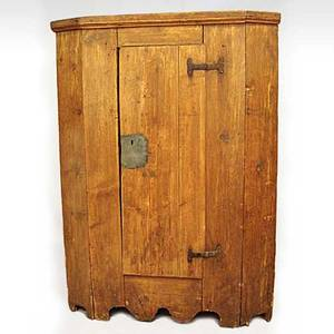 A Czechoslovakian Country Pine Single Door Cupboard