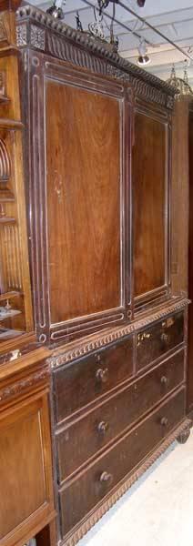 A Rosewood TwoPart Linen Press