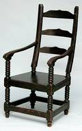 204 19th C American Ladderback Chair