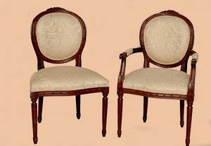 168 Set of 12 Louis XVI Style Dining Chairs