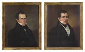 A Pair of American Folk Portraits on Panel
