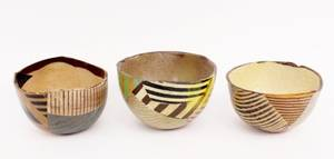 Three Barry Rhodes Art Pottery Bowls