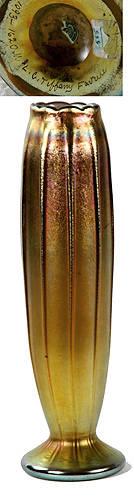 203 Tiffany Gold Iridescent Favrile Vase