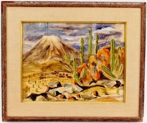 A Brockie Stevenson Desert Scene Signed  Dated