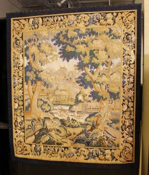 Wall Tapestry of a Garden Scene