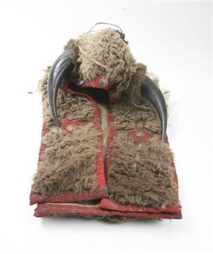 A Sioux Buffalo Hide Headdress