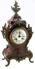 240 Louis XV Tortoise and Bronze Mounted Mantle Clock