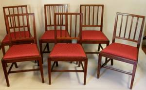Set of Six Sheraton Style Side Chairs