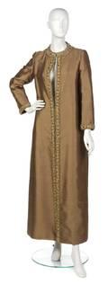 A Bronze Silk Evening Coat