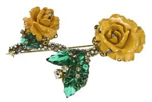 A Miriam Haskell Floral Brooch