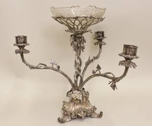 Silverplated Epergne Probably Elkington