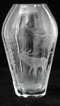 283 Moser Crystal Glass Vase