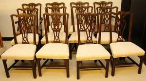 12 Henredon Chippendale Dining Chairs