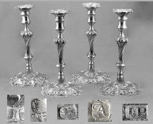 272 Set of Four George II Candlesticks