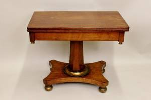 19th C American Mahogany Game Table