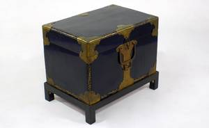 255 Chinese Black Lacquer Chest