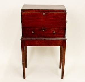 Early 19th C Small Chest on Stand