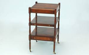 127 English Mahogany ThreeTiered Serving Side Table