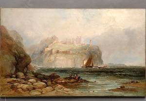 281 Andrew Melrose 1836 1901 Coastal Oil on Canvas