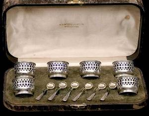 293 Cased Set of Gorham Sterling Silver Salts