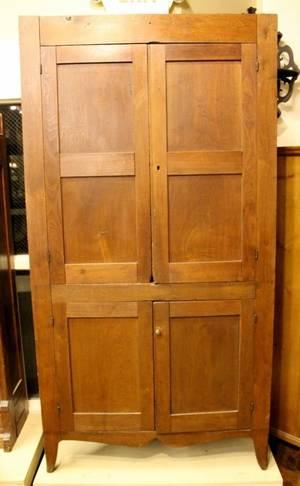 E 19th C American Corner Cabinet