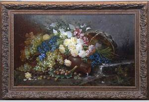 237A Max Albert Carlier Belgian Oil on Canvas Signed