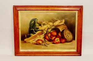 E 20th C Amer School Still Life w Apples