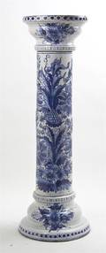 A Delft Ceramic Pedestal