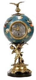 329 LenzKirsch Bronze and Porcelain Figural Clock