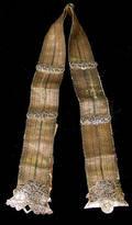 338 Russian Silver Thread Antique Niello Belt