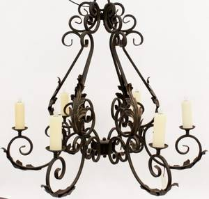 Iron 6 Light Luby Chandelier