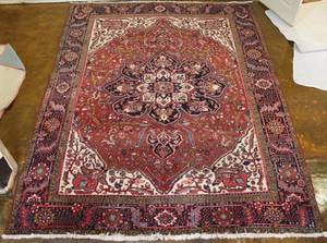 Hand Woven Semi Antique Persian Heriz  approximately 8
