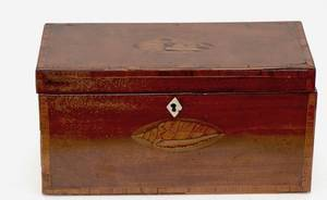 288 English 19th Century Shell Inlaid Tea Caddy