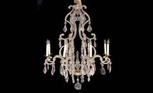 282 Italian Style Prism Hung Chandelier