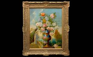 278 Continental School Floral Still Life Oil on Canvas