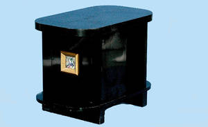 235 Deco Lacquered Side Table with tile Plaque