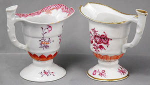 384 Two 18th Century Chinese Export Creamers