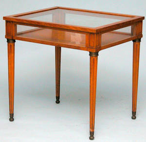 399 French Provincial Style Table Vitrine