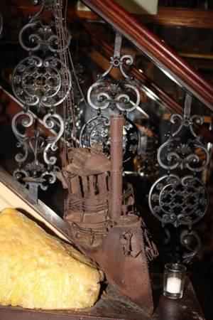 Metal Art Sculpture of a ship