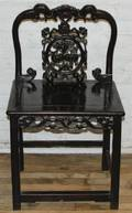 A Chinese Carved Hardwood Chair